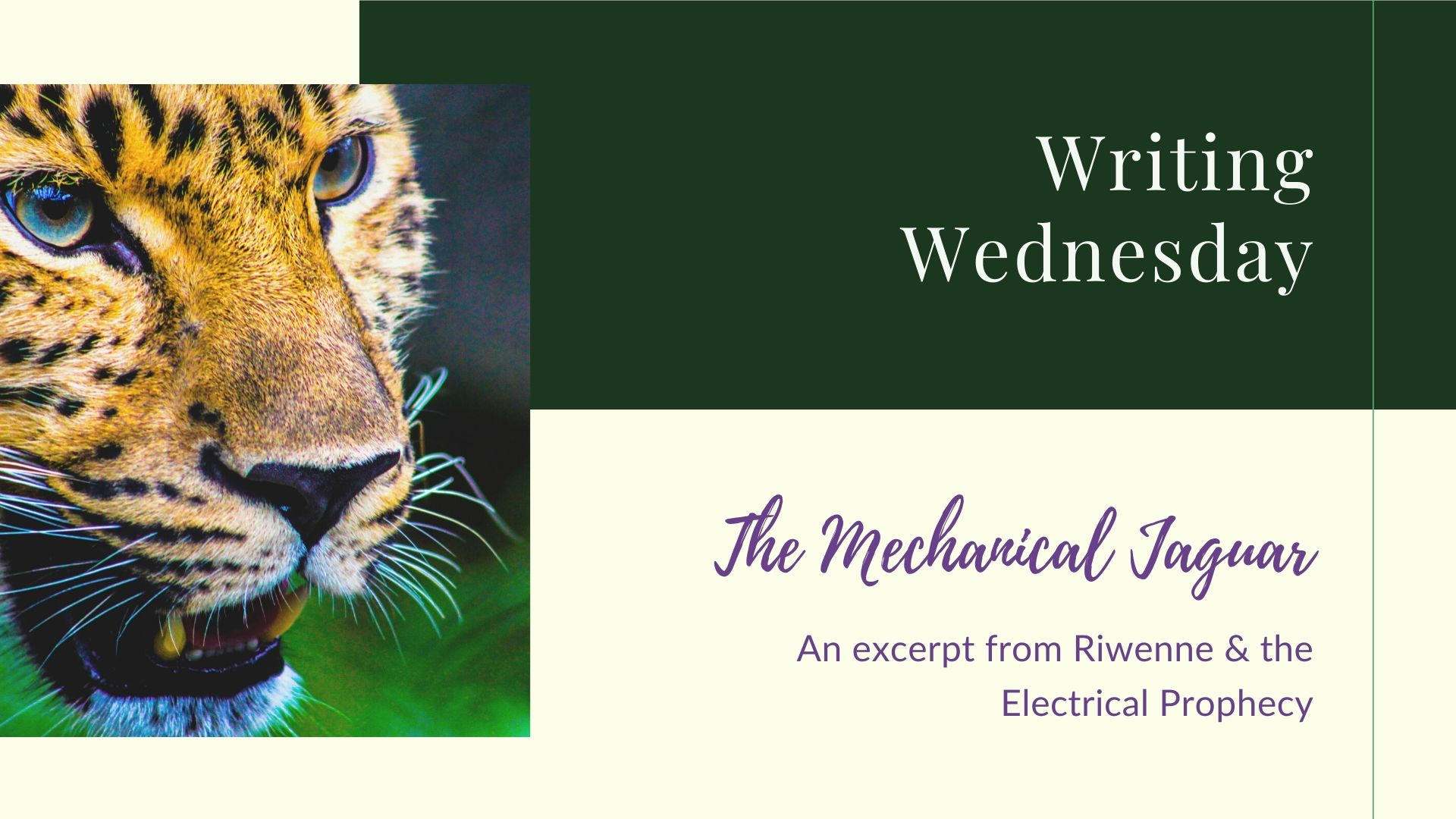 You are currently viewing Writing Wednesday: Mechanical Jaguar