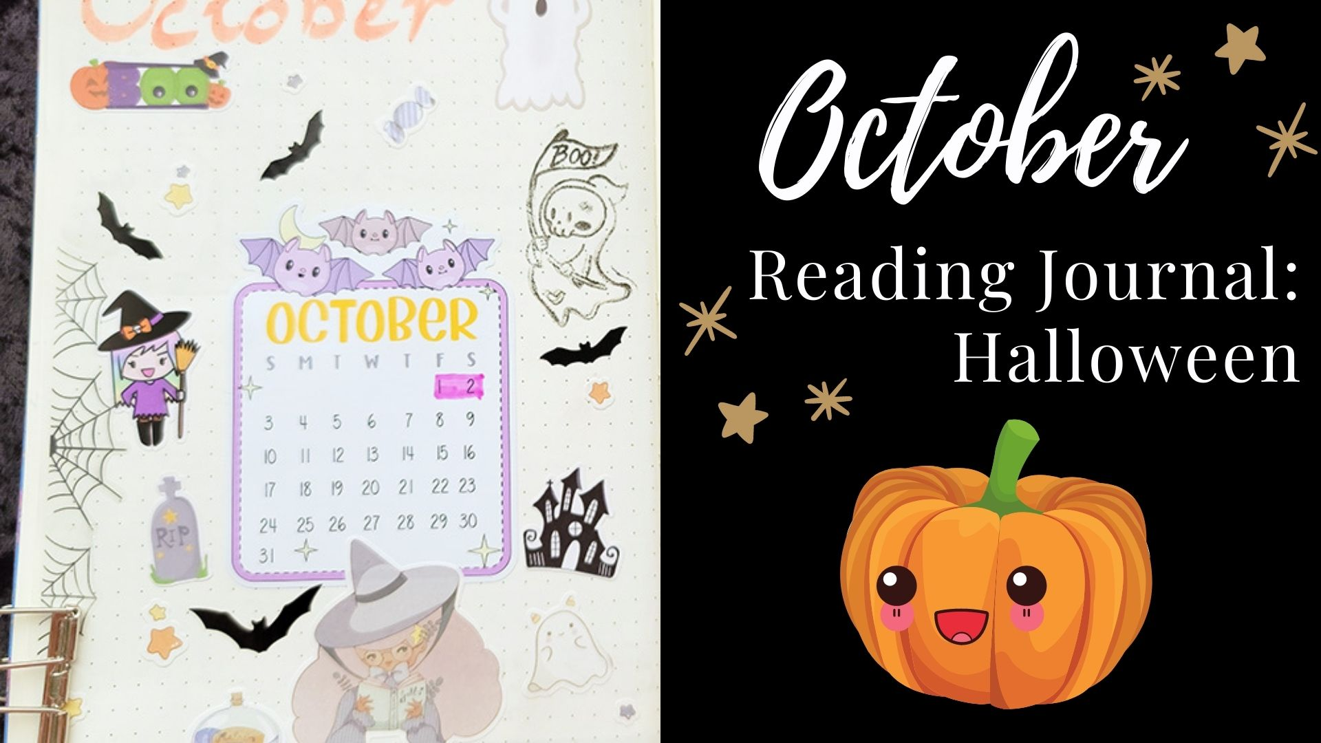 You are currently viewing October Reading Journal: Halloween Theme!