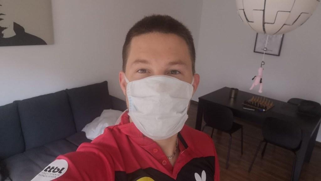 Kristian - ready for Corona test