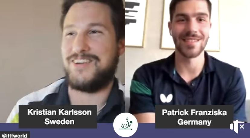 Kristian and Patrick taking over ITTF Instagram