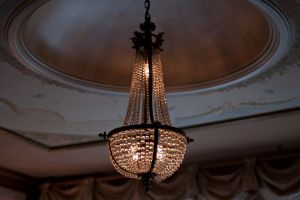 Antique Chandelier and Custom Dome