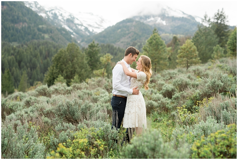 Woodsy Engagements by a Lake | Kristina Curtis Photography Utah