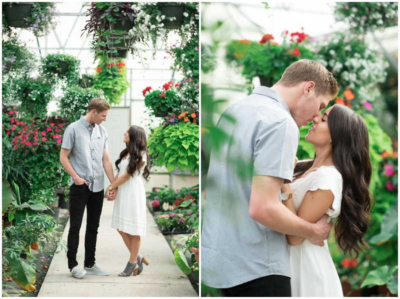 Greenhouse Engagement Photos | Utah Wedding Photographer