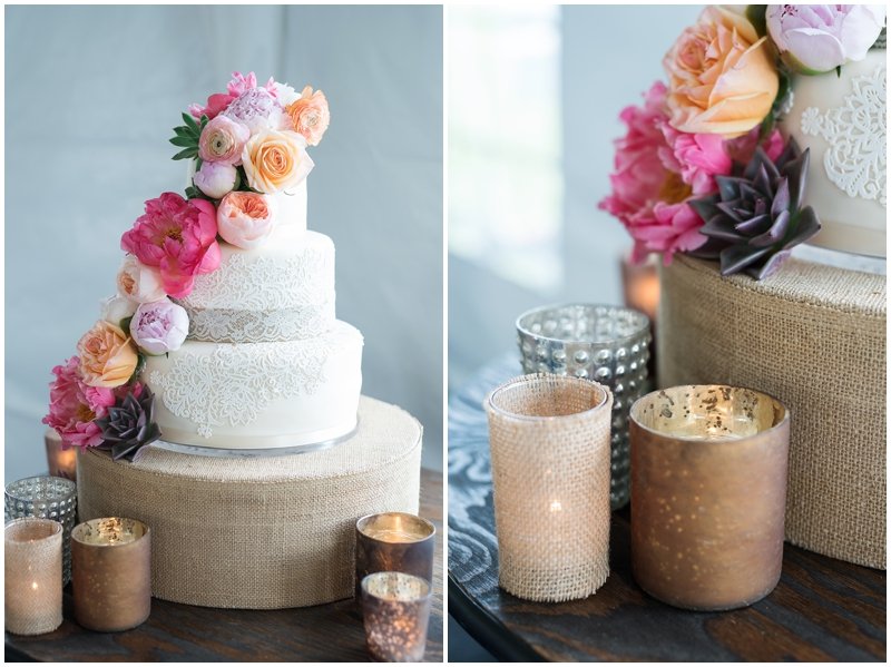 Destination Park City Wedding | Kristina Curtis Photography Culinary Crafts, lace wedding cake, garden roses