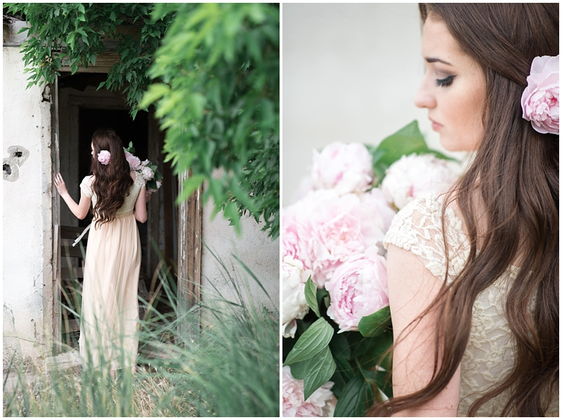 Wild about Peonies Farmhouse Bridals | Utah Wedding | Kristina Curtis Photography