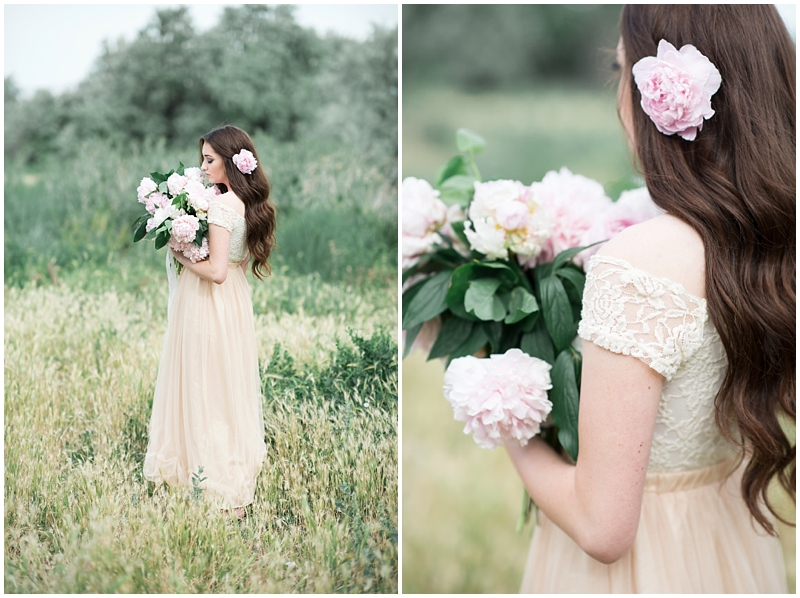 peony bouquet, bridals at a farmhouse, utah  wedding photographer, www.kristinacurtisphotography.com