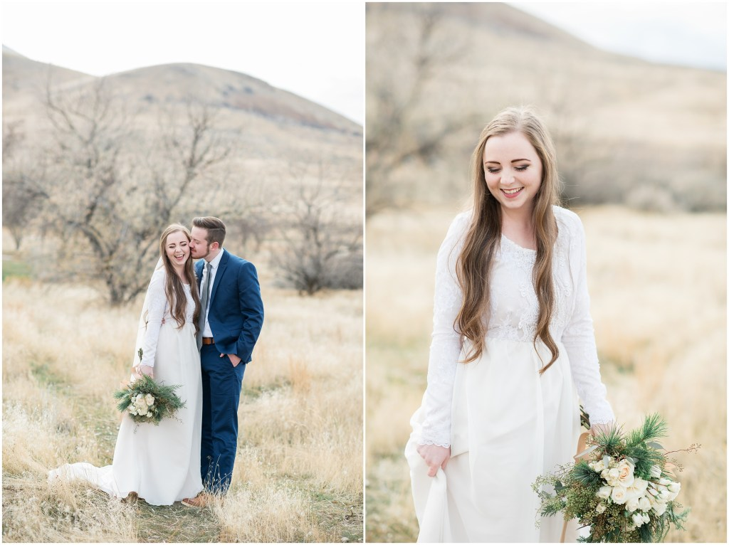 Winter Feild Wedding |Utah Kristina Curtis Photography