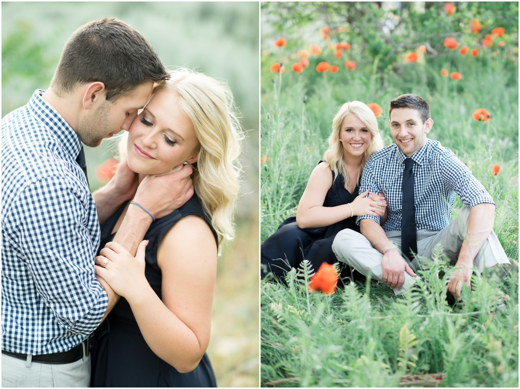 Utah Wild Poppies Engagements | Kristina Curtis Photography