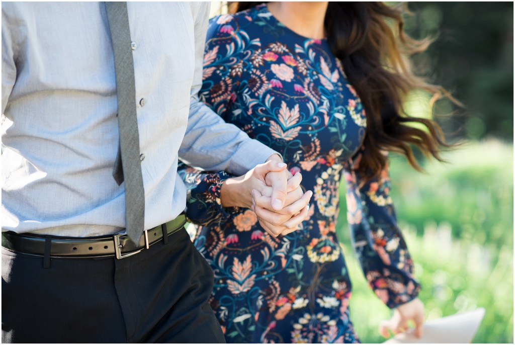 Utah Mountain + Wild Flowers Engagements | Kristina Curtis Photography