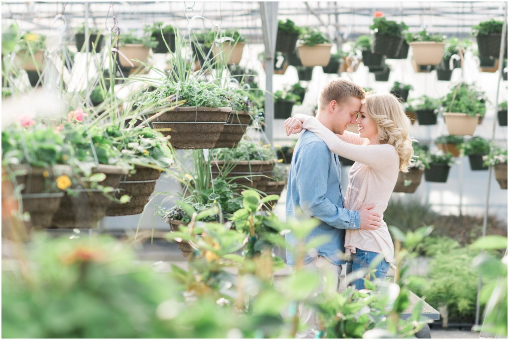 Utah Greenhouse Engagements | Kristina Curtis Photography