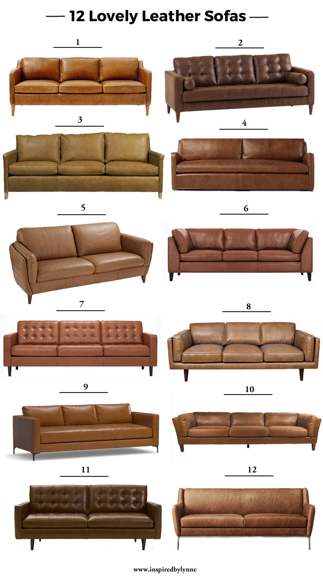 12 Lovely Leather Sofas