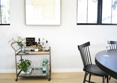 client dining room/barcart