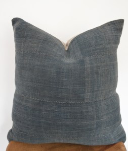 vintage gray mudcloth european linen pillow