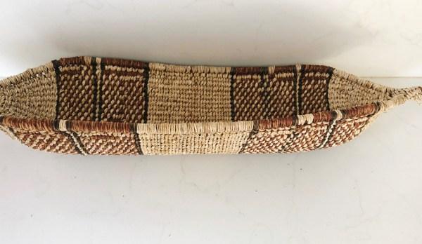 handwoven african boat basket