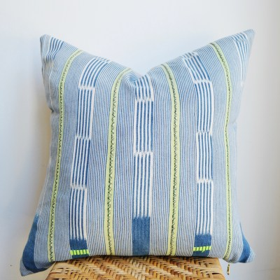 faded vintage baule pillow
