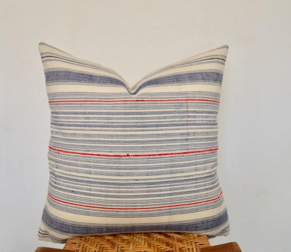 vintage hmong striped pillow