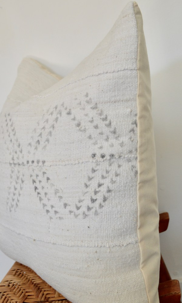 white mudcloth + gray pattern