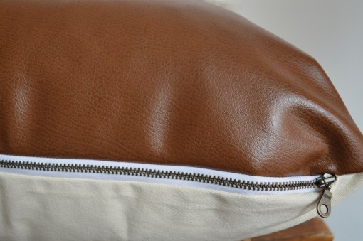 white mudcloth + leather