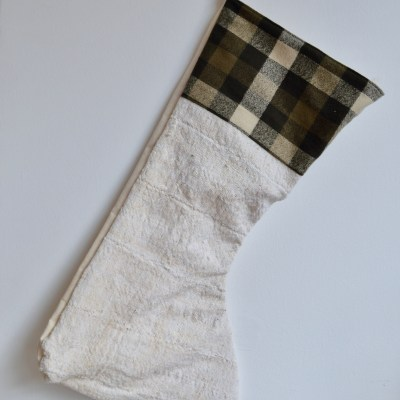 plaid vintage stocking
