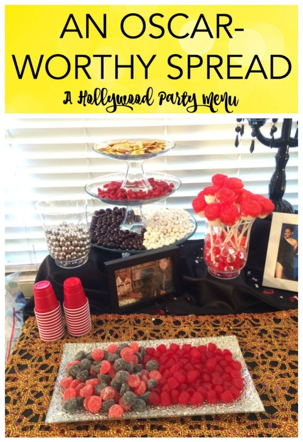 "I recently hosted a Hollywood themed Murder Mystery party, and I'm here to share some of my planning tips. For décor ideas, tips, and tricks, check out ""Dazzling the Stars – Hollywood Themed Party Décor"", or for mystery ideas check out Night of Mystery. I had so much fun putting this party together and you can too! Read on for my easy and fun Hollywood party menu ideas."