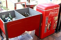The party hosts had these awesome drink tubs! So perfect for a back yard party.