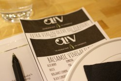 An olive oil tasting is a unique networking event that gives attendees something to interact about.