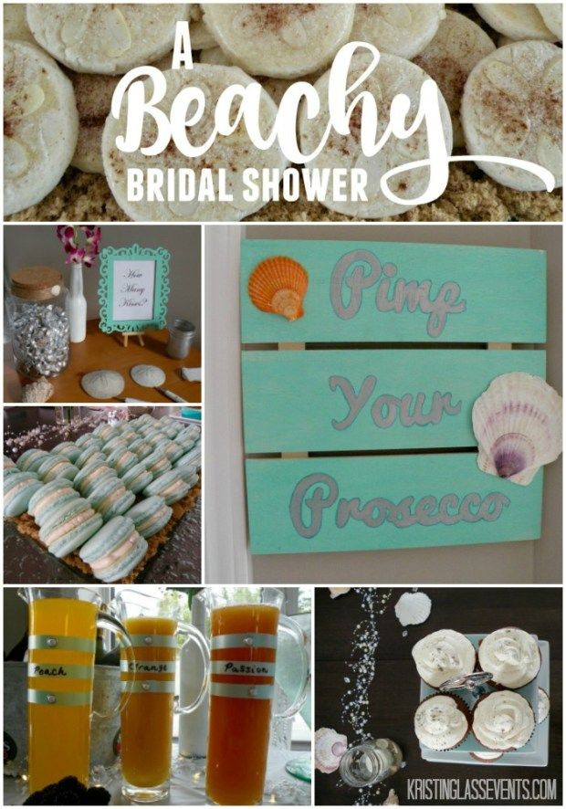 A Beachy Bridal Shower - snacks and decor