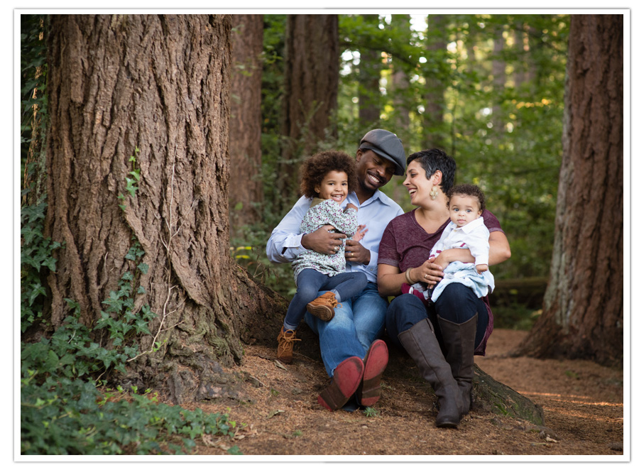 Family fun in the woods in Bellevue, WA