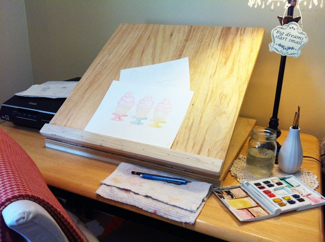 desk top easel plans