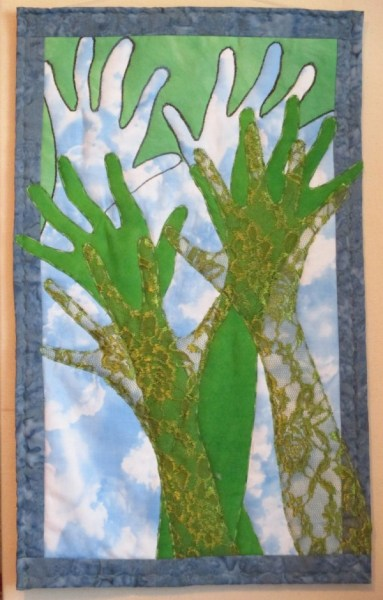 Reach for the Sky–an inspirational wallhanging