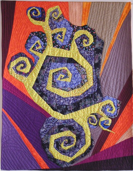 Dance of the Spirals, an art quilt by Kristin Miller