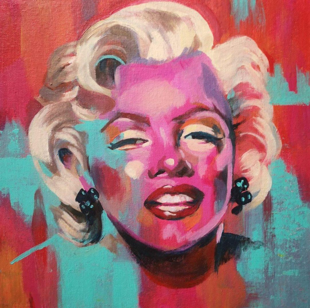 Marilyn Monroe - acrylic on canvas board