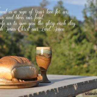 Mealtime Prayers: Your love for us