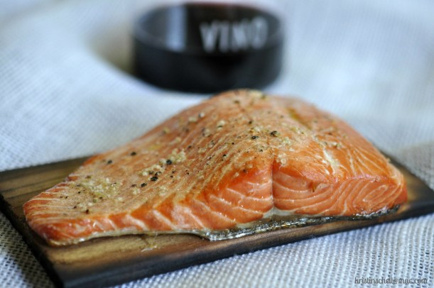 Salmon on Wooden Plank for Blog WM