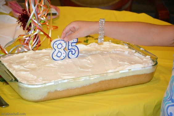 Tres Leches Birthday Cake