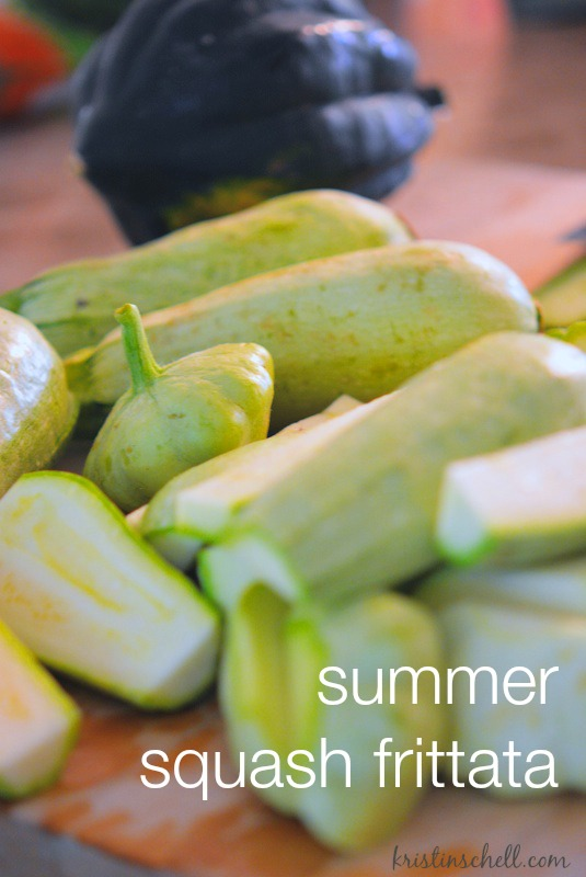 Summer Squash Frittata | easy recipe | kristinschell.com