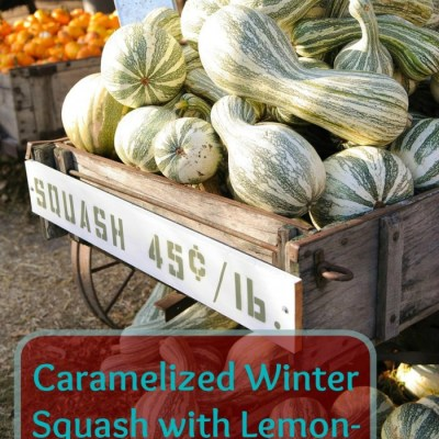 Caramelized Winter Squash with Lemon-Rosemary Topping