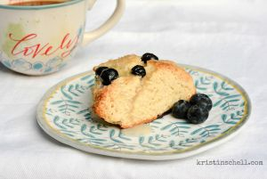 Blueberry Scone Table kristinschell.com