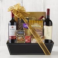 wine chocolate basket