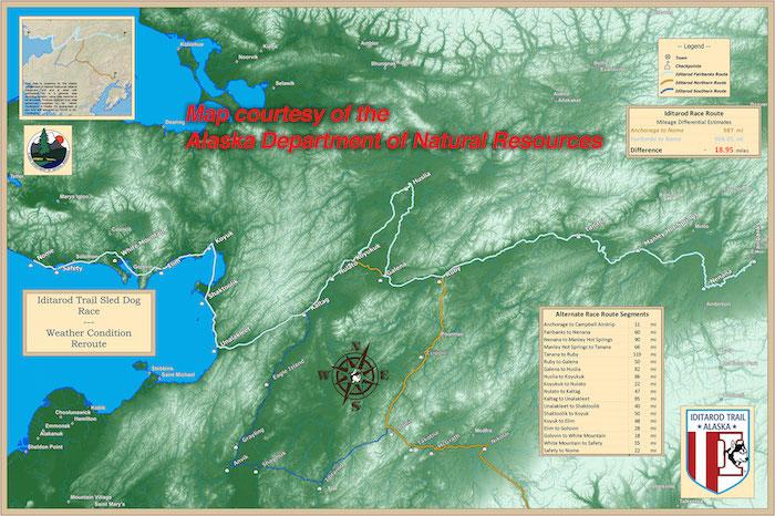 2015 Iditarod Route