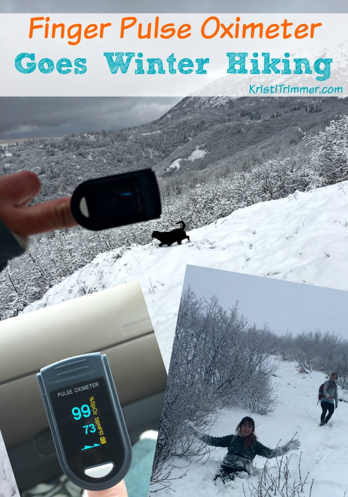 Finger Pulse Oximeter Goes Winter Hiking