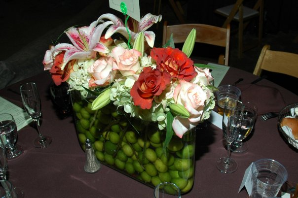 Wedding Centerpiece with Limes