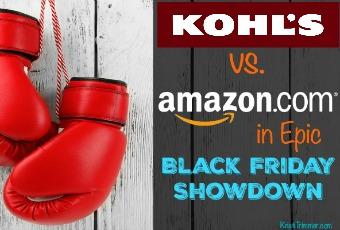 Kohl's vs Amazon in Epic Black Friday Showdown