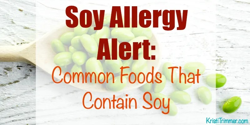 Soy Allergy List