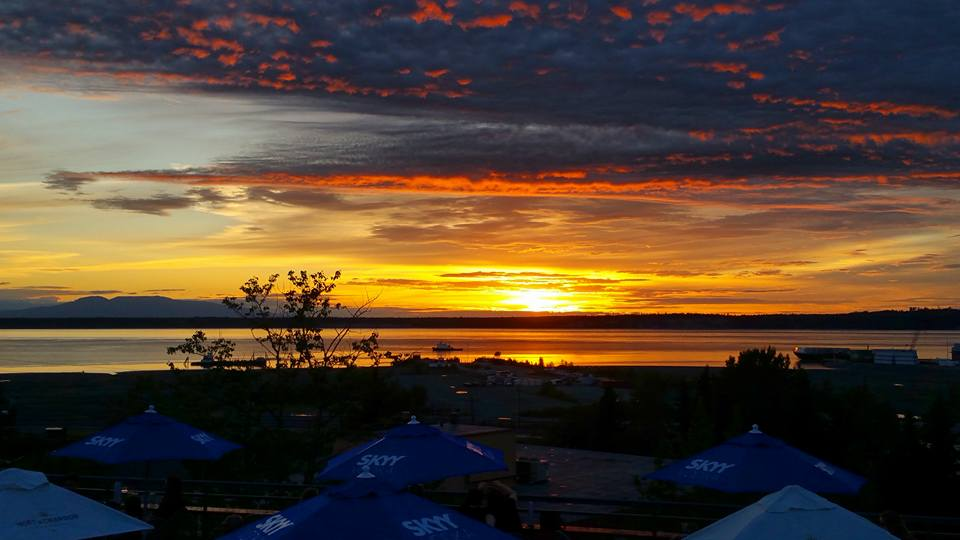 Midnight Sun in Anchorage, Alaska