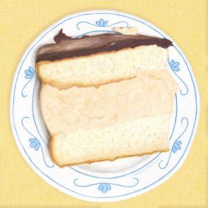 boston cream pie illustration