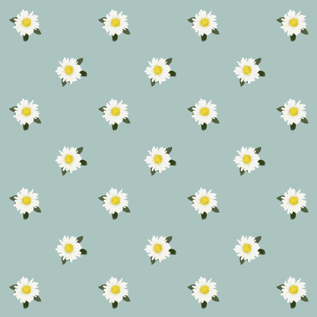 vintage daisies pattern