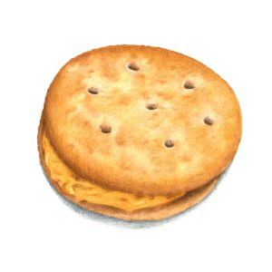 cheese cracker sandwich