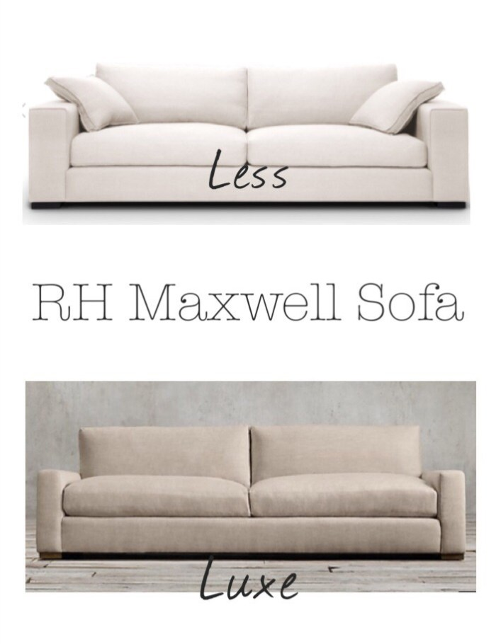 Luxe For Less Find Restoration Hardware Maxwell Sofa KRISTY - Maxwell sofa