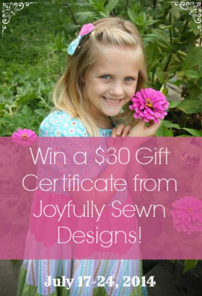 5 Things I Love About Joyfully Sewn Designs {and a $30 giveaway!}